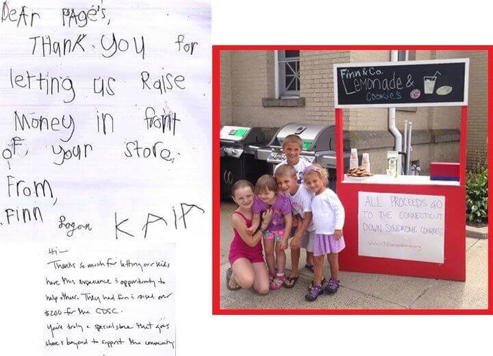 Testimonial from our community kid's lemonade stand operators