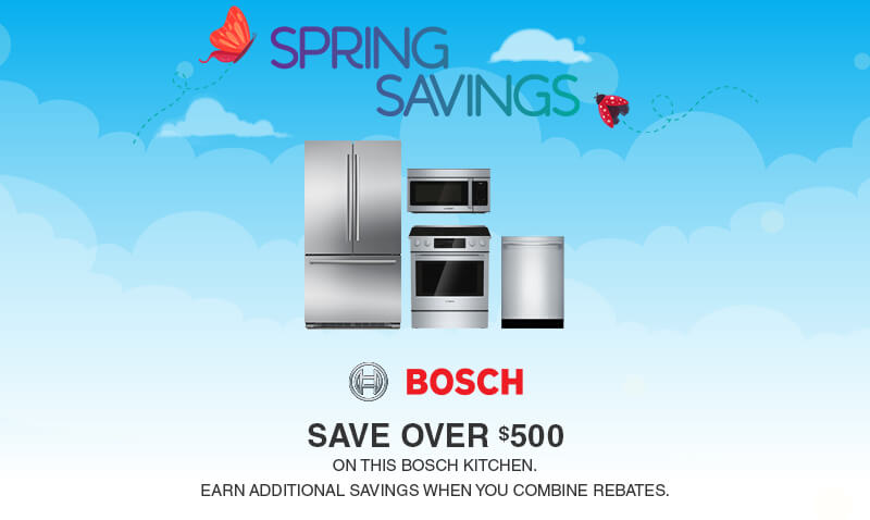 Buy More, Save More Bosch Appliances